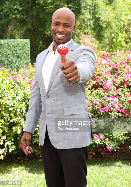 Personality Akbar GbajaBiamila visits Hallmark's 'Home Family' at Universal Studios Hollywood on April 19 2019 in Universal City California
