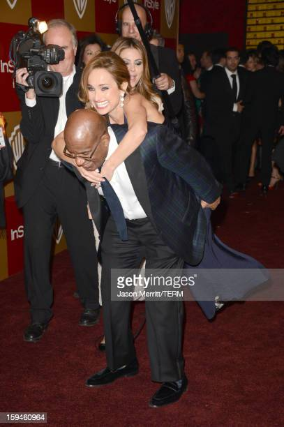 TV personality Al Roker and celebrity chef Giada De Laurentiis attend the 14th Annual Warner Bros And InStyle Golden Globe Awards After Party held at...
