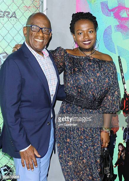 TV personality Al Roker and Leila Roker attend the Suicide Squad world premiere at The Beacon Theatre on August 1 2016 in New York City