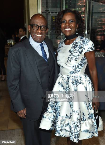 TV personality Al Roker and TV journalist Deborah Roberts attend the 45th Chaplin Award Gala at Alice Tully Hall Lincoln Center on April 30 2018 in...