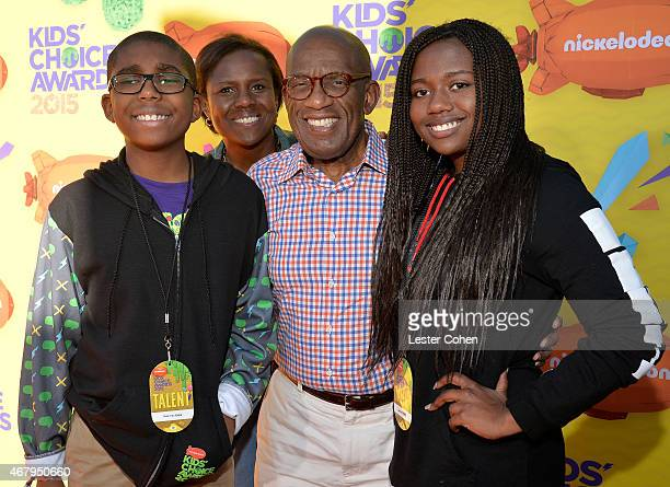 TV personality Al Roker with Nicholas Albert Roker Deborah Roberts and Leila Roker attend Nickelodeon's 28th Annual Kids' Choice Awards held at The...