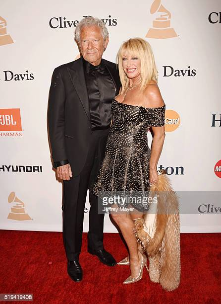 TV personality Alan Hamel and actress Suzanne Somers attend the 2016 PreGRAMMY Gala and Salute to Industry Icons honoring Irving Azoff at The Beverly...