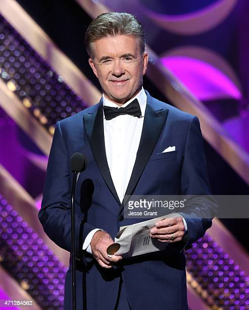TV personality Alan Thicke speaks onstage during The 42nd Annual Daytime Emmy Awards at Warner Bros Studios on April 26 2015 in Burbank California