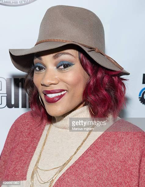 TV personality Alana Brown attends Keke Wyatt Single Release Party at Museum Bar on December 1 2015 in Atlanta Georgia