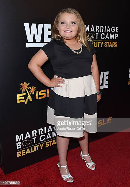 Personality Alana 'Honey Boo Boo' Thompson arrives at the premiere of 'Marriage Boot Camp' Reality Stars And 'Ex Isle' at Le Jardin on November 19,...