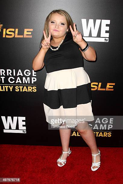 TV personality Alana Honey Boo Boo Thompson attends the We tv celebrates the premiere of Marriage Boot Camp Reality Stars and Exisled at Le Jardin on...