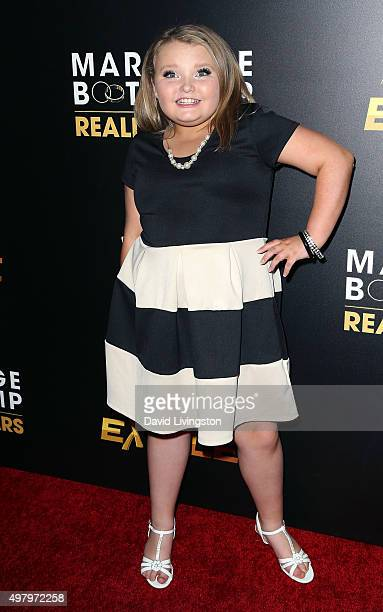 TV personality Alana 'Honey Boo Boo' Thompson attends We tv's celebration of the premieres of 'Marriage Boot Camp Reality Stars' and 'Exisled' at Le...