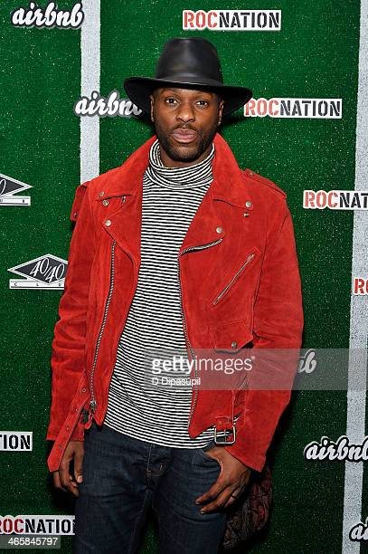 TV personality Alaska Gedeon attends the Airbnb Super Suite at Roc Nation Sports Airbnb's Welcome To New York event at 40 / 40 Club on January 29...