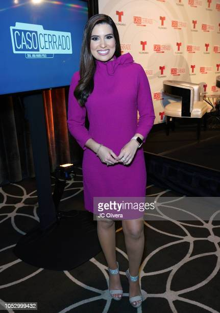 TV personality Alejandra Ortiz Chagin attends Telemundo's 'Caso Cerrado Edicion Estelar' new season press conference at W Hollywood on October 24...
