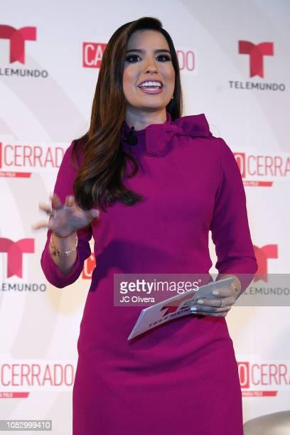 TV personality Alejandra Ortiz Chagin speaks onstage during Telemundo's 'Caso Cerrado Edicion Estelar' new season press conference at W Hollywood on...