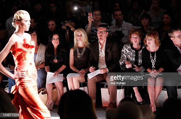 Personality Alex McCord and Simon van Kempen attend the Venexiana Spring 2012 fashion show during MercedesBenz Fashion Week at The Studio at Lincoln...