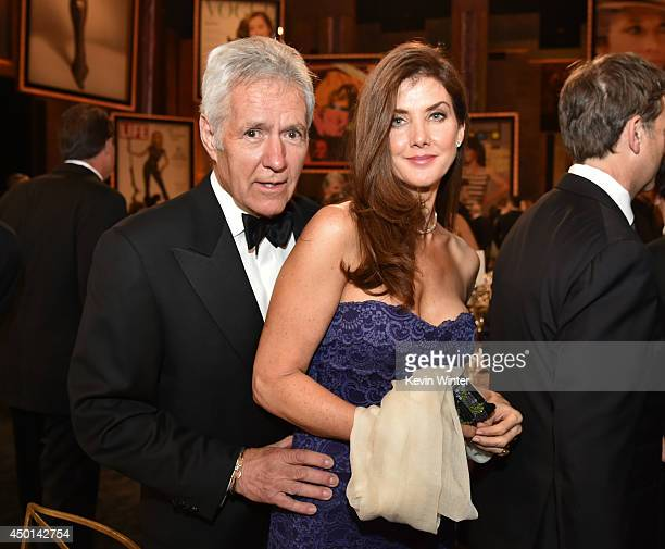 TV personality Alex Trebek and Jean Trebek attend the 2014 AFI Life Achievement Award A Tribute to Jane Fonda at the Dolby Theatre on June 5 2014 in...