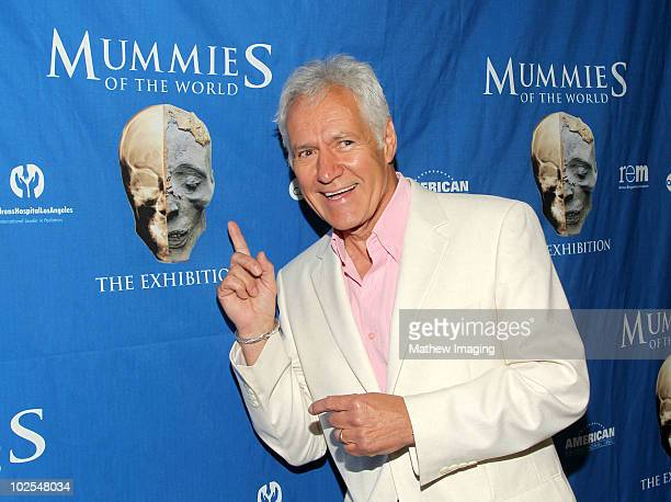 TV personality Alex Trebek arrives at the Mummies of the World Exhibit Celebrity Preview at the California Science Center on June 29 2010 in Los...