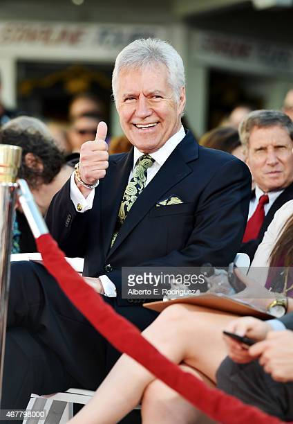 TV personality Alex Trebek attends the Christopher Plummer Hand and Footprint Ceremony during the 2015 TCM Classic Film Festival on March 27 2015 in...