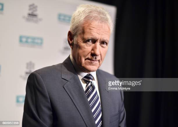 TV personality Alex Trebek attends the screening of 'The Bridge on The River Kwai' during the 2017 TCM Classic Film Festival on April 7 2017 in Los...