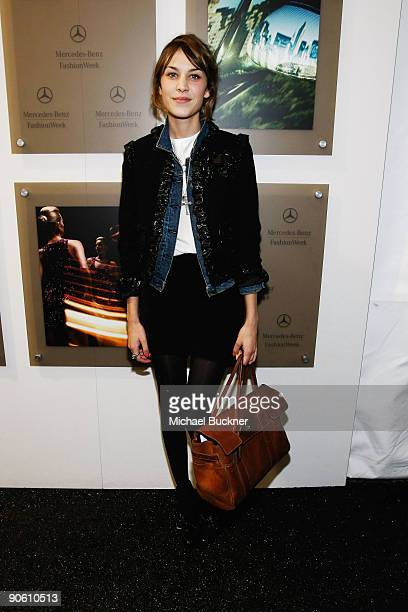 Personality Alexa Chung attends Fashion Week Spring 2010 presented by Mercedes-Benz at Bryant Park on September 11, 2009 in New York City.