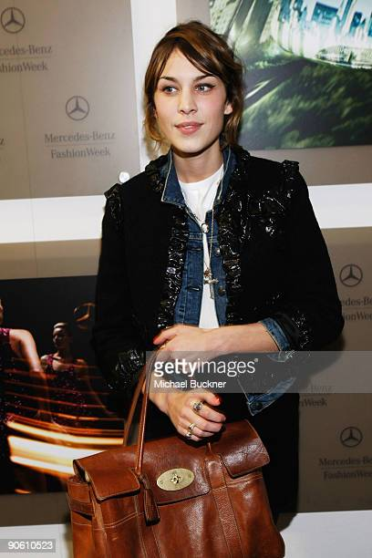 Personality Alexa Chung attends Fashion Week Spring 2010 presented by MercedesBenz at Bryant Park on September 11 2009 in New York City