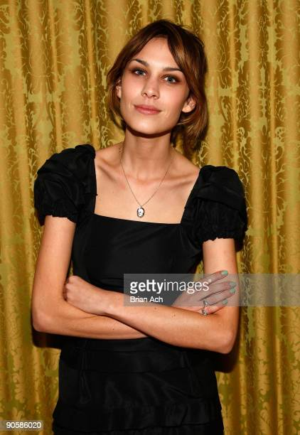TV personality Alexa Chung attends the Miu Miu celebration of Fashion's Night Out at Miu Miu Boutique on September 10 2009 in New York City