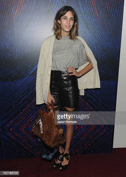 Personality Alexa Chung attends the YSL Belle D'Opium fragrance launch at The YSL Stage on June 17, 2010 in New York City.
