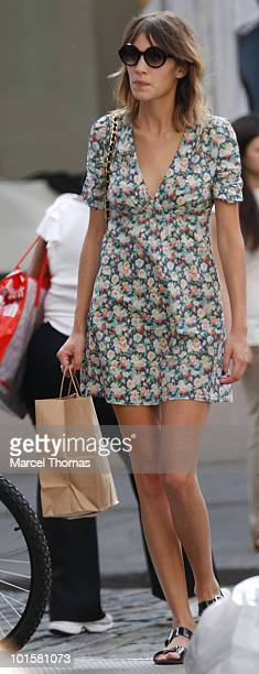 Personality Alexa Chung is seen shopping in SOHO on June 2 2010 in New York New York