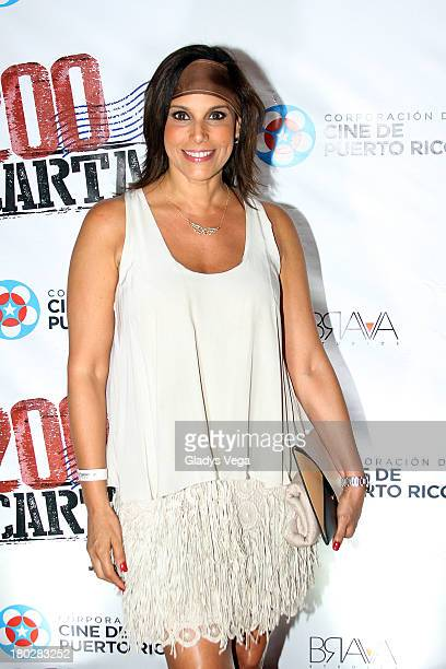 Personality Alexandra Malagon arrives at 200 Cartas premiere on September 10 2013 in San Juan Puerto Rico