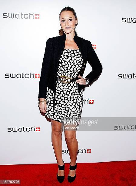 TV personality Alexandra Osipow attends the private launch of Swatch 'New Gents Collection' at Gansevoort Park Avenue on October 6 2010 in New York...