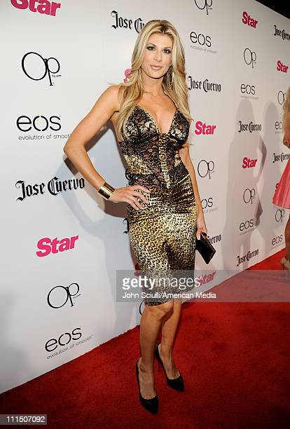 TV personality Alexis Bellino arrives at Star Magazine's 'All Hollywood' Party at Trousdale on April 3 2011 in West Hollywood California