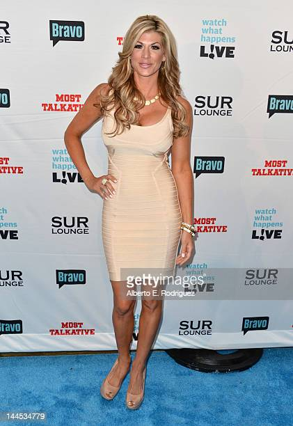 TV personality Alexis Bellino arrives to Bravo Media's celebration of the book release of Andy Cohen's Most Talkative Stories From The Front Lines Of...