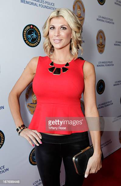 TV personality Alexis Bellino attends Los Angeles Police Memorial Foundation's Celebrity Poker Tournament at Saban Theatre on April 27 2013 in...