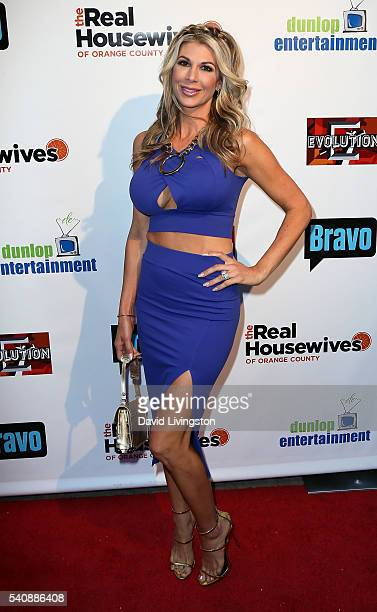 TV personality Alexis Bellino attends the premiere party for Bravo's The Real Housewives of Orange County 10 Year Celebration at Boulevard3 on June...