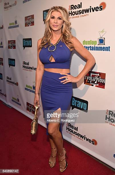 TV personality Alexis Bellino attends the premiere party for Bravo's 'The Real Housewives of Orange County' 10 year celebration at Boulevard3 on June...