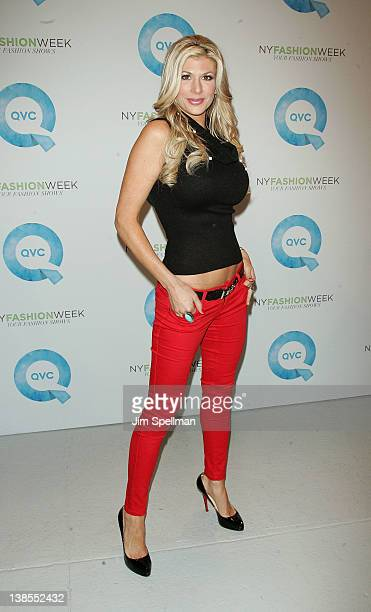Personality Alexis Bellino attends the QVC's New York Fashion Week Runway Show Fall 2012 presentation during MercedesBenz Fashion Week at Center 548...
