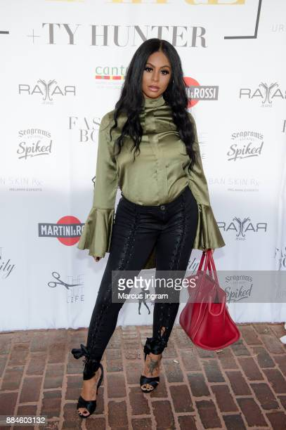 TV personality Alexis Skyy attends the 'Claire and Ty Hunter Brunch' at Soho Atlanta on December 2 2017 in Atlanta Georgia
