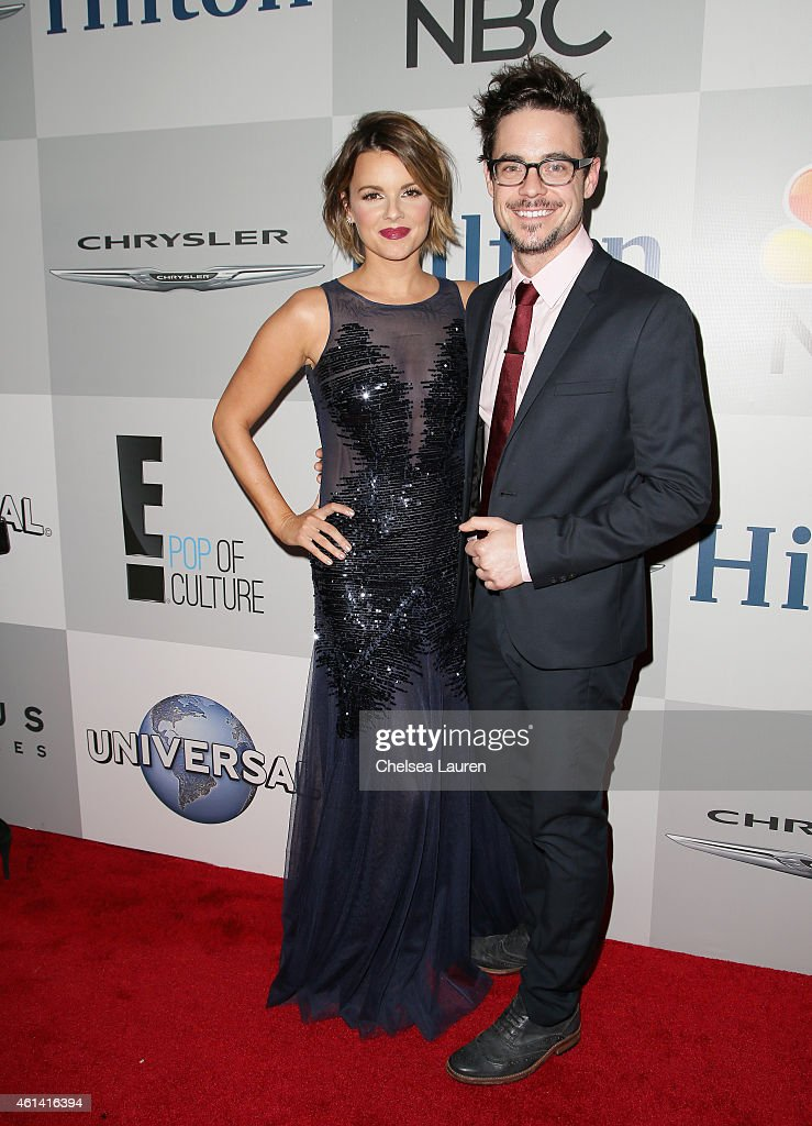 TV Personality Ali Fedotowsky and Guest attend the NBCUniversal 2015 Golden Globe Awards Party sponsored by Chrysler at The Beverly Hilton Hotel on January 11, 2015 in Beverly Hills, California.