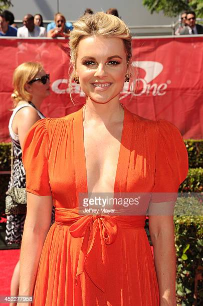 TV personality Ali Fedotowsky arrives at the 2014 ESPY Awards at Nokia Theatre LA Live on July 16 2014 in Los Angeles California