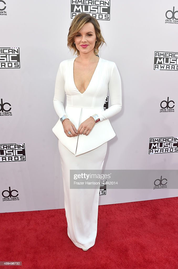 TV personality Ali Fedotowsky attends the 2014 American Music Awards at Nokia Theatre L.A. Live on November 23, 2014 in Los Angeles, California.