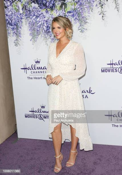 Personality Ali Fedotowsky attends the 2018 Hallmark Channel Summer TCA at Private Residence on July 26 2018 in Beverly Hills California