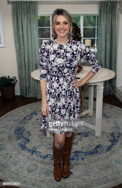 TV personality Ali Fedotowsky Hallmark's Home Family at Universal Studios Hollywood on October 26 2017 in Universal City California