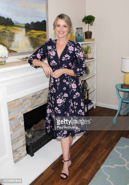 Personality Ali Fedotowsky on the set of Hallmark's Home Family at Universal Studios Hollywood on August 31 2018 in Universal City California