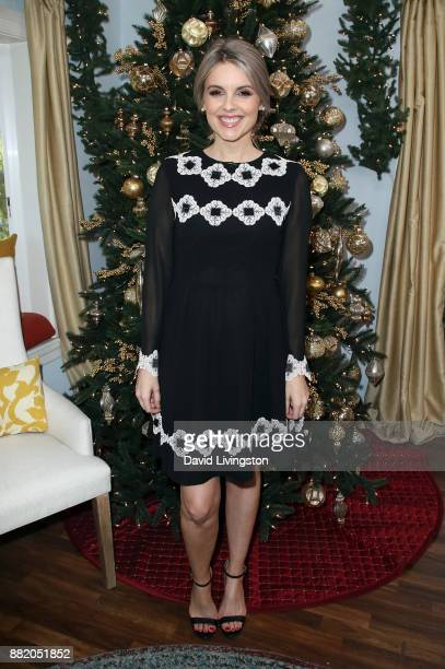 "Personality Ali Fedotowsky poses at Hallmark's ""Home & Family"" at Universal Studios Hollywood on November 29, 2017 in Universal City, California."