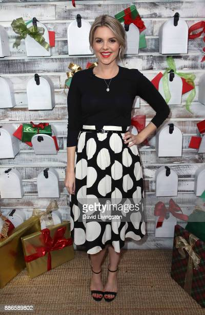 TV personality Ali Fedotowsky poses at Hallmark's 'Home Family' at Universal Studios Hollywood on December 5 2017 in Universal City California