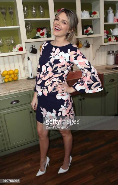 TV personality Ali Fedotowsky poses at Hallmark's Home Family at Universal Studios Hollywood on January 26 2018 in Universal City California