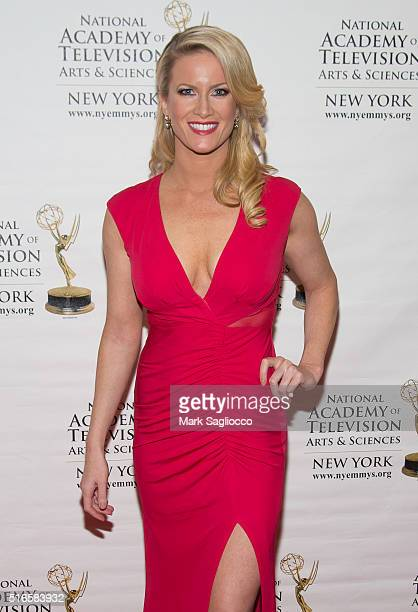 Personality Alice Gainer attends the 59th Annual New York Emmy Awards at the Marquis Times Square on March 19 2016 in New York City