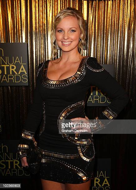 TV personality Alicia Banit arrives at the 8th annual ASTRA Awards at the State Theatre on June 24 2010 in Sydney Australia The awards named after...