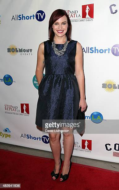 TV personality Alicia Malone attends Hollyshorts 11th Annual Opening Night Celebration at TCL Chinese 6 Theatres on August 13 2015 in Hollywood...