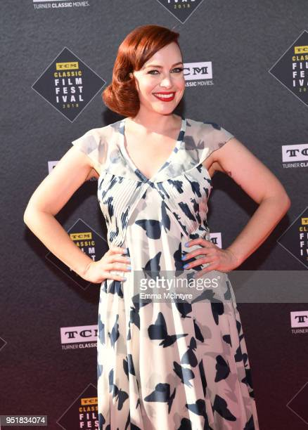 TV personality Alicia Malone attends The 50th Anniversary World Premiere Restoration of 'The Producers' Opening Night Gala and Robert Osborne Award...