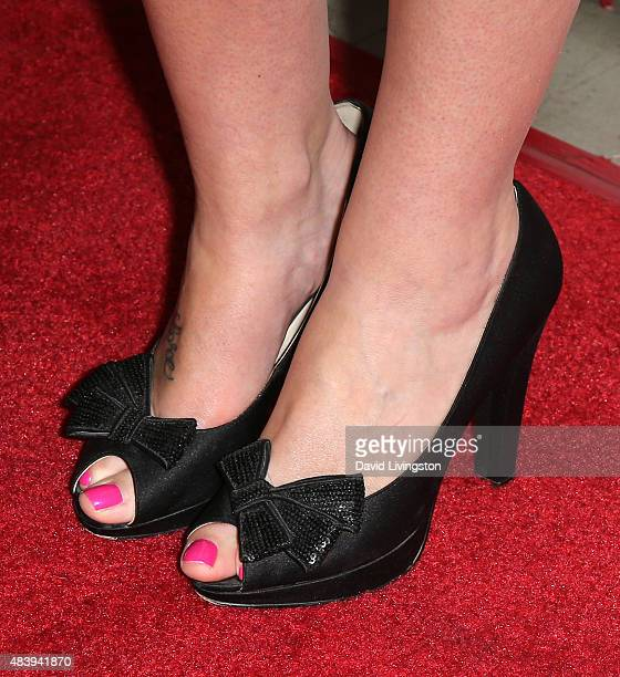 TV personality Alicia Malone shoe detail attends Hollyshorts 11th Annual Opening Night Celebration at TCL Chinese 6 Theatres on August 13 2015 in...