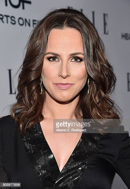 Personality Alicia Menendez attends ELLE's 6th Annual Women in Television Dinner Presented by Hearts on Fire Diamonds and Olay at Sunset Tower on...