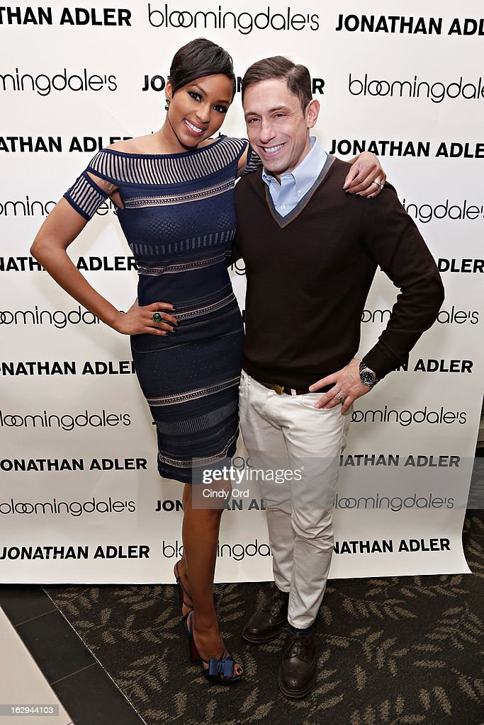 TV personality Alicia Quarles and designer Jonathan Adler attend the Bloomingdale's 59th Street launch of the Jonathan Adler Accessories Collection at Bloomingdale's 59th Street Store on March 1, 2013 in New York City.