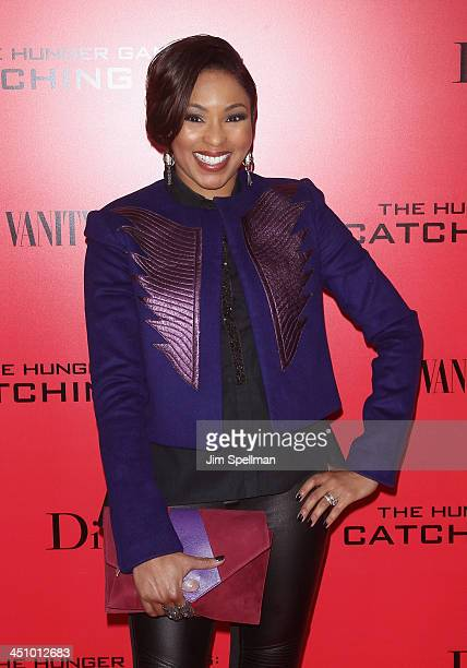Personality Alicia Quarles attends the 'Hunger Games Catching Fire' New York Premiere at AMC Lincoln Square Theater on November 20 2013 in New York...